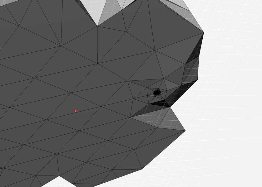 Viewing the wireframe of a 3D model's bottom may quickly reveal non-flat sections