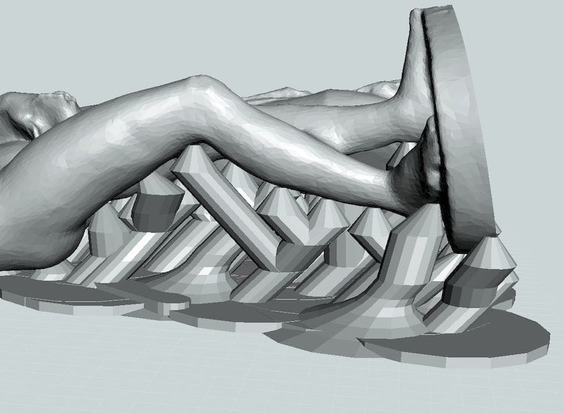 Choose a support structure appropriate for the 3D model