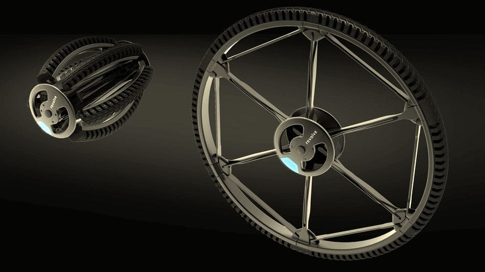 "The fascinating ""Revolve"" collapsible wheel"