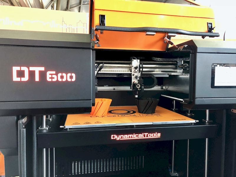 Dynamical Tools' DT600 industrial 3D printer