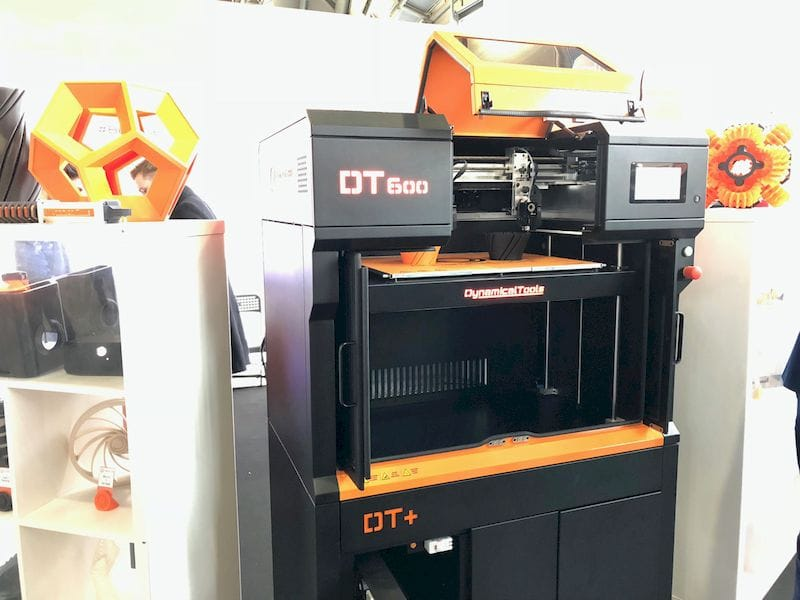 Another view of the Dynamical Tools' DT600 industrial 3D printer