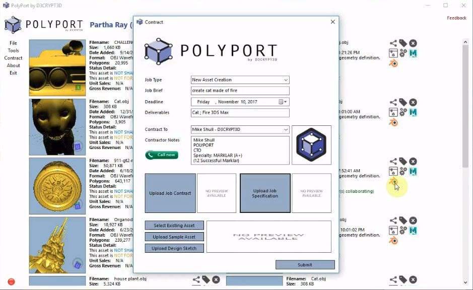 PolyPort 3D asset protection