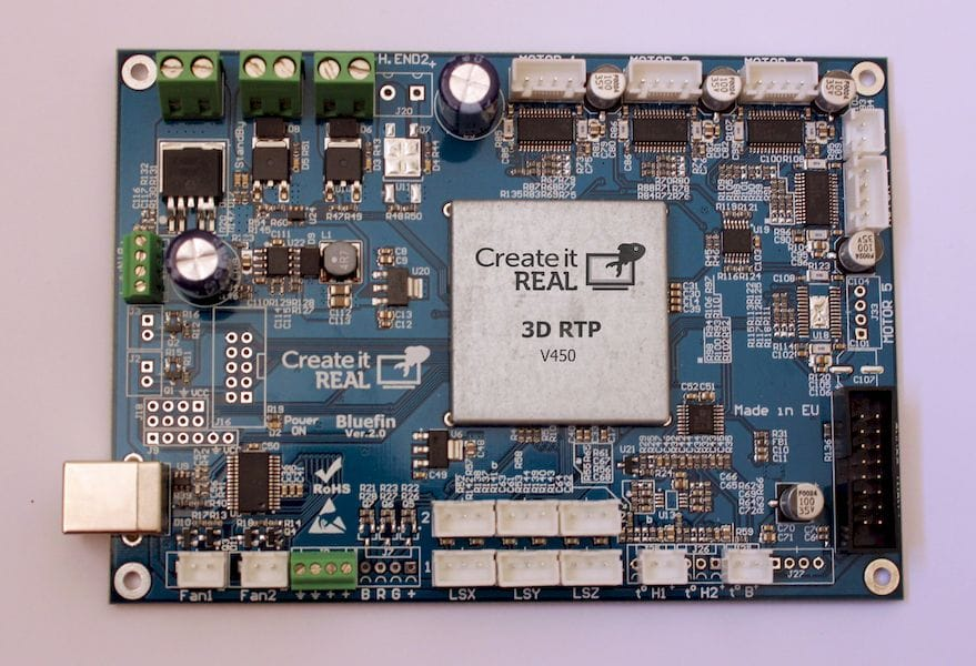 Create It REAL's ultra-fast 3D printer controller board