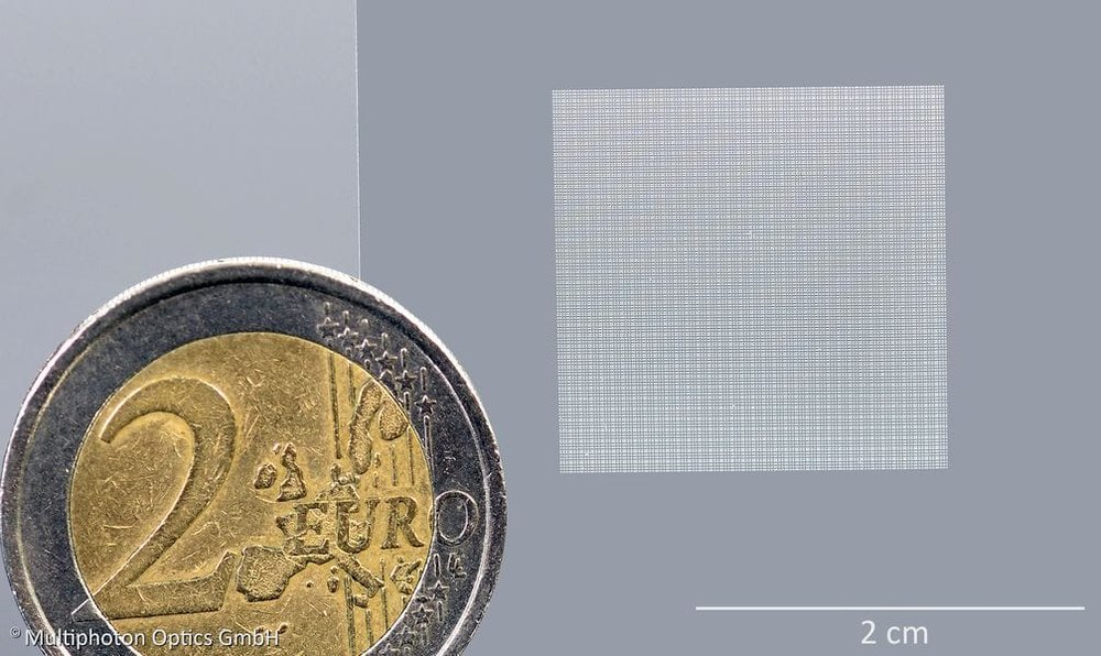 A 3D printed microlens array