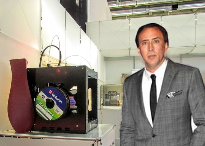 Nic Cage and 3D printer