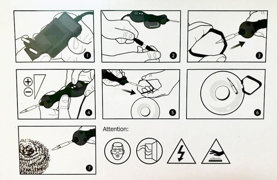 Instructions for the Retouch3D; it's very easy to use