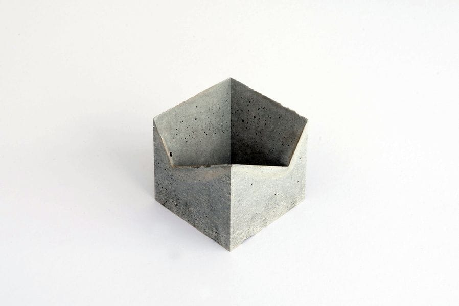 A concrete version of the 3D printed Card Holder