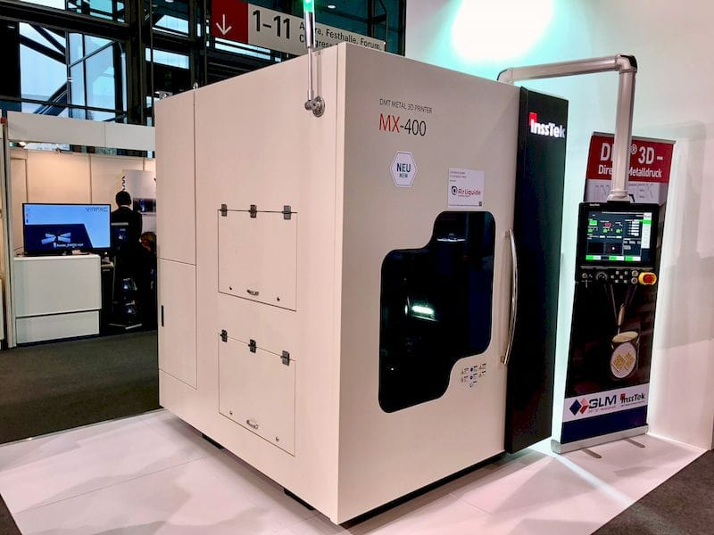 Insstek's MX-400 3D metal printer - one of their smaller machines