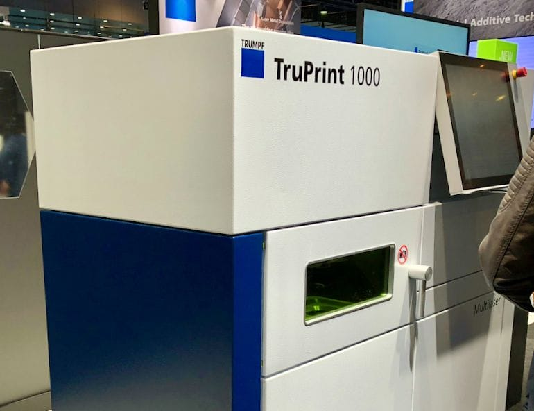 The Trumpf TruPrint 1000 3D metal printer