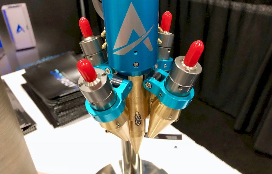 The multi-laser toolhead on the Additec 3D metal printing systems