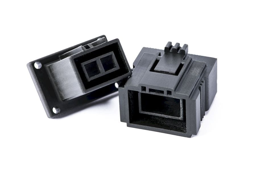 Connectors 3D printed with Carbon's new EPX 82 epoxy material