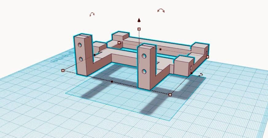 Designing the Planetary Rover camera mount in Tinkercad
