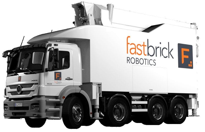 Fast Brick Robotic's system in a truck