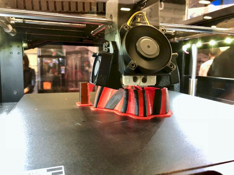 The extruder on the new Raise3D Pro2 series. Note extra fans