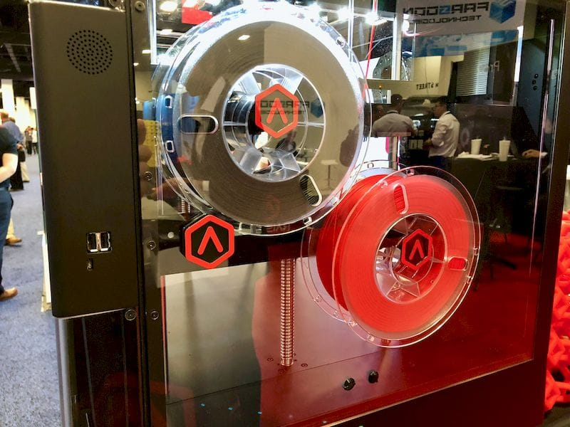 By default filament spools on the Raise3D Pro2 are stored inside the machine