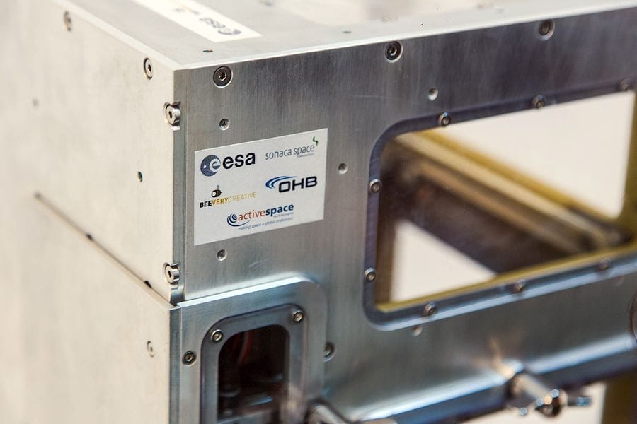 Detail of the MELT space-rated 3D printer for ESA