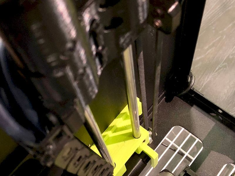 Detail on the new belt-driven Z-axis on the LulzBot Mini 2 desktop 3D printer