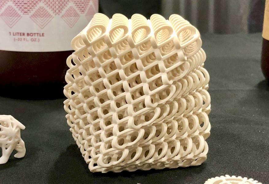 A 3D printed design involving a sparse structure
