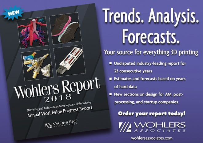 The 2018 Wohlers report on 3D printing