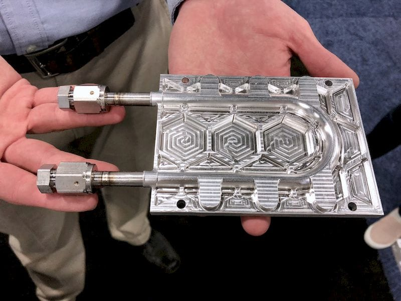 A very strong sample metal 3D print from Fabrisonic