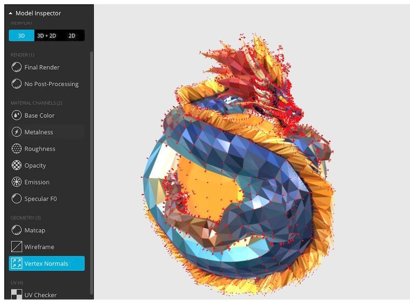 "Sketchfab's new ""model inspector"" feature"