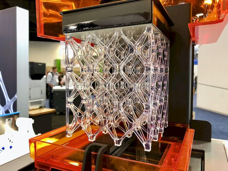 A large, complex 3D print made from resin