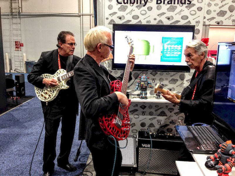 The 3D Systems Band at CES playing on 3D printed instruments
