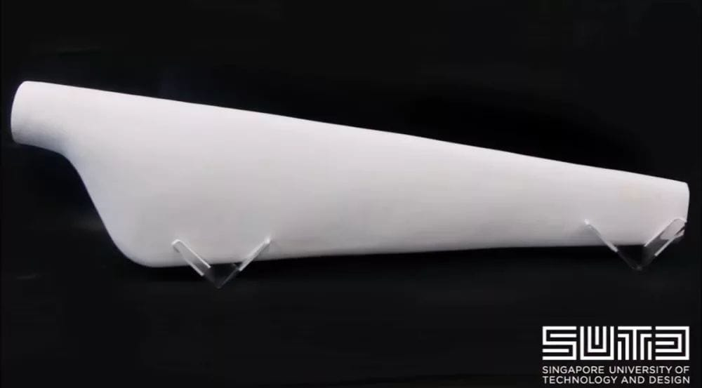 A 3D printed wind turbine blade