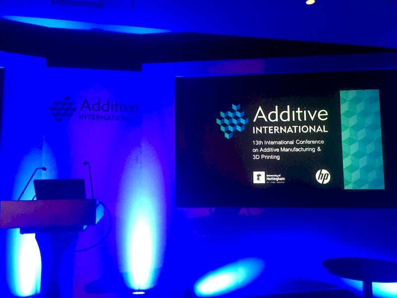 At the 13th Additive International Conference