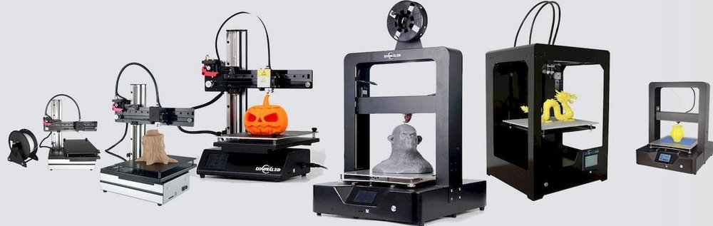 Dowell 3D's line of 3D printers, at least the small ones