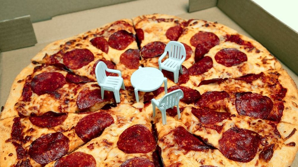 3D printed chairs now sit at the famous Little Pizza Table