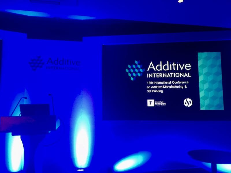 At the Additive International 2018 conference