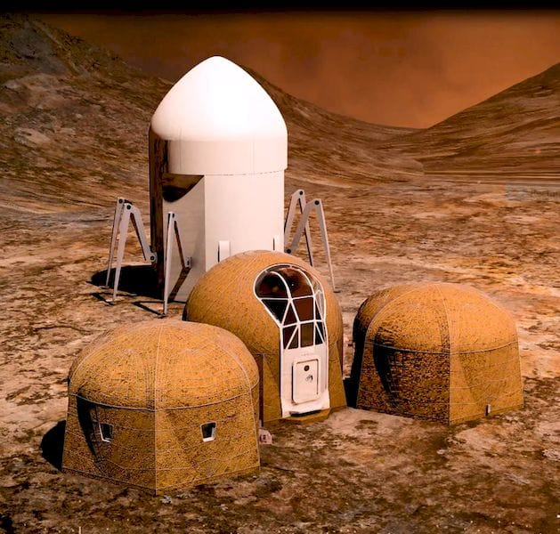 A possible vision for a 3D printed habitat on Mars