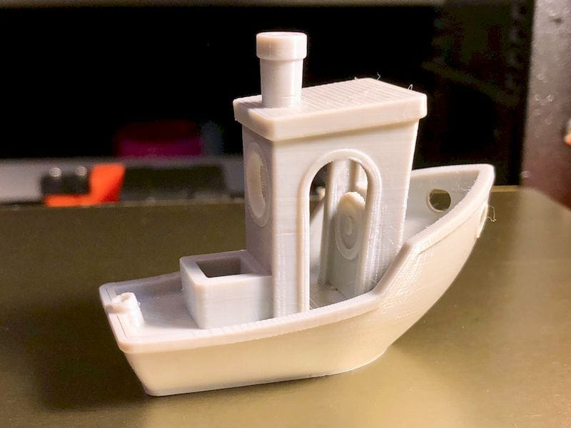 A #3DBenchy printed with PLAS3D filament - looks amazing!  [Source: Fabbaloo]