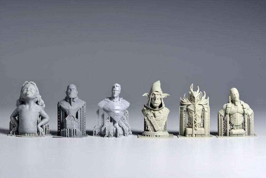 More sample 3D prints from the Phrozen Shuffle [Source: Phrozen]