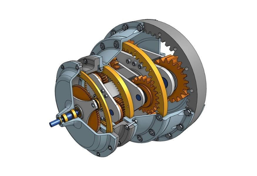 A planetary gear designed with Onshape [Source: Onshape]