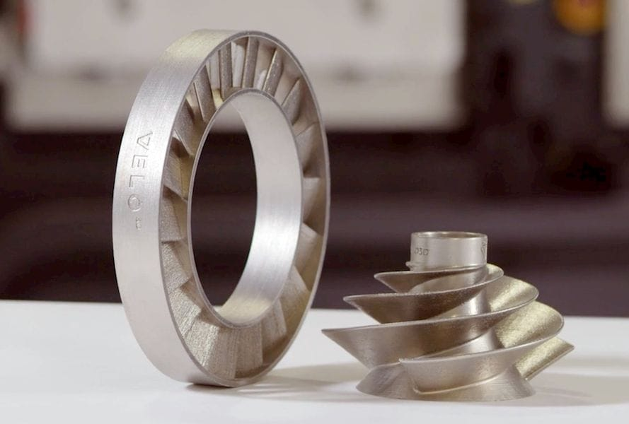 Metal 3D printed parts made without support structures by Velo3D [Source: Velo3D]