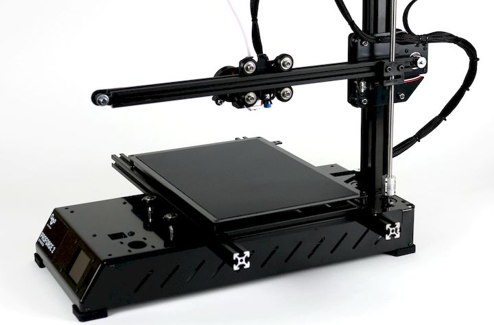 The print surface of the Proforge 2 [Source: Makertech 3D]