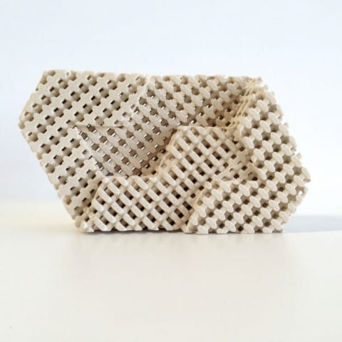 A fancy ceramic brick produced with Tethon 3D resin, but could this be made of metal in the future? [Source: Tethon 3D]