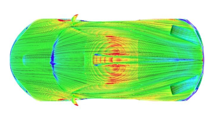 Friction lines are visible on this simulation from AirShaper [Source: AirShaper]