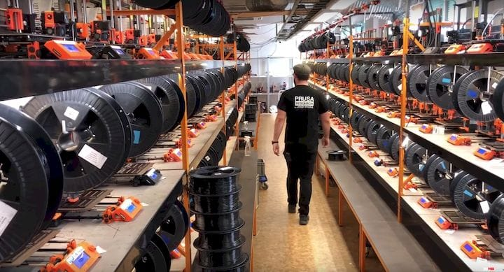 A peek inside Prusa Research's operations should scare any wanna-be 3D printer startup [Source: 3DMN]