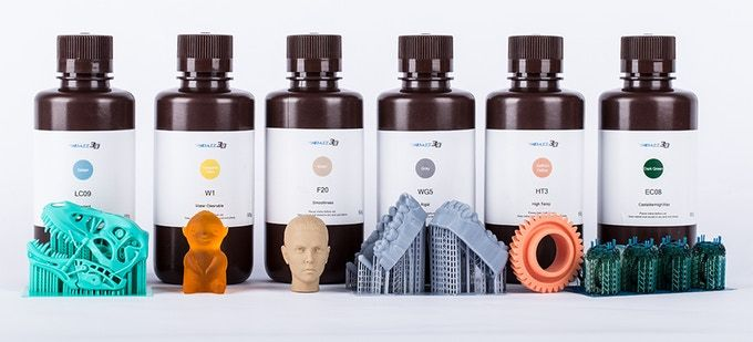 The initial set of inexpensive 3D printer resins [Source:Dazz 3D]