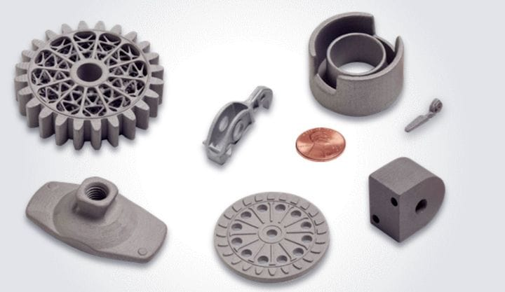 Printed metal parts from HP's new Metal Jet technology [Source: HP]