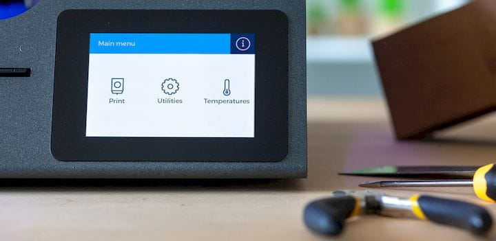 A tidy interface on BCN3D Technologies' new graphical interface for their 3D printers [Source: BCN3D Technologies]