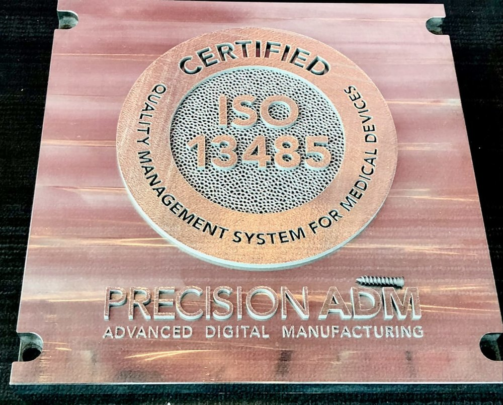Precision ADM 3D printed their ISO 13485 certification in metal [Source: Fabbaloo]