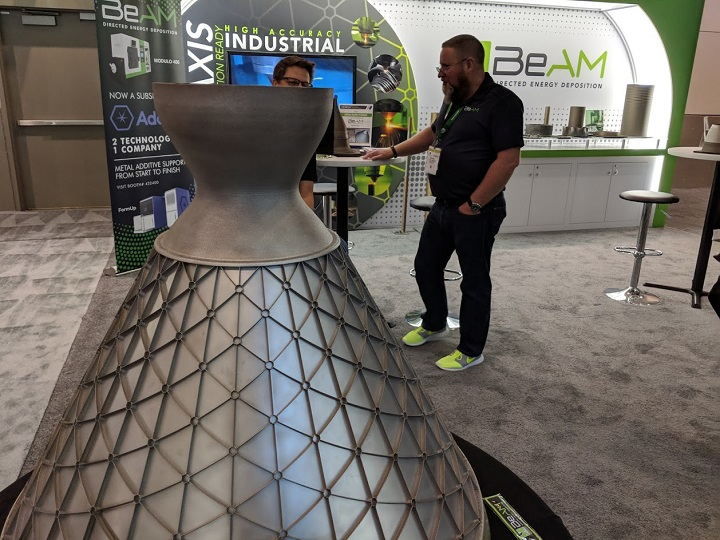 """Had I angled this better, I could have made BeAM's """"Big Ass Isogrid"""" the same size as Tim Bell."""