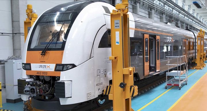 A railcar being serviced at Siemens Mobility's new RRX Rail Service Center [Source: Stratasys]