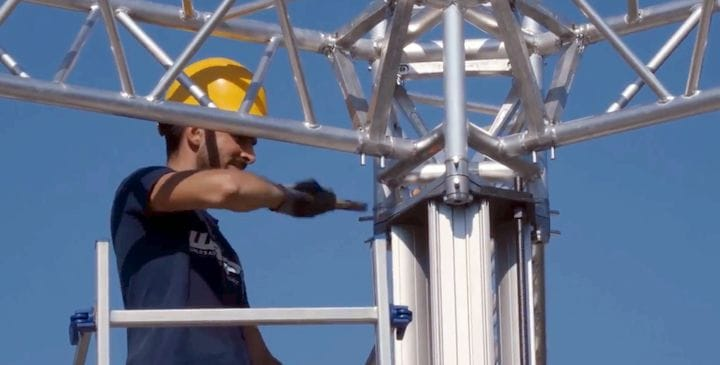 It looks like it could be a bit of work to move the Crane WASP construction 3D printer from site to site [Source: WASP]