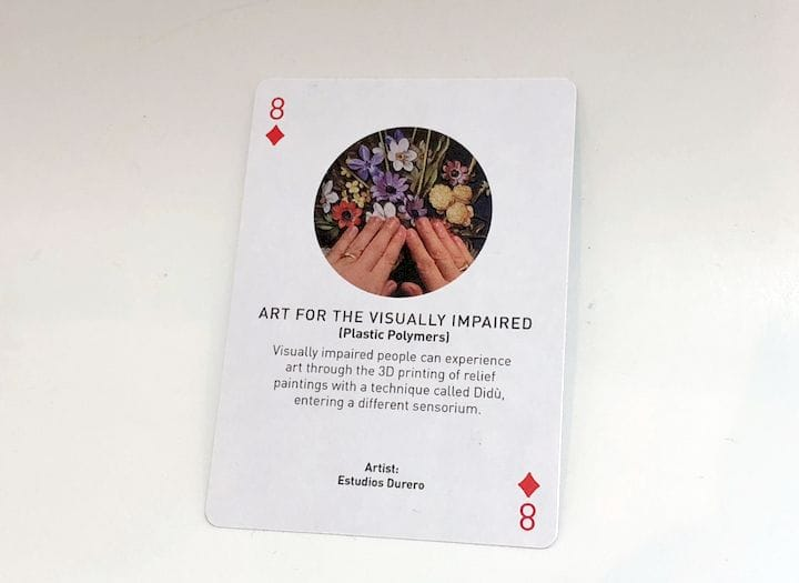 A card from Authentise's 3D printing card deck [Source: Fabbaloo]
