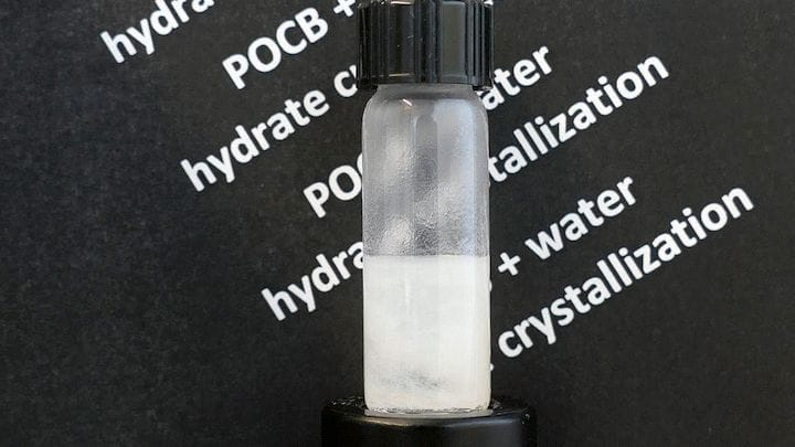 A substance can crystallize water [Source: Swanson School of Engineering/Sachin Velankar]